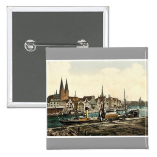General view, Lubeck, Germany classic Photochrom Buttons