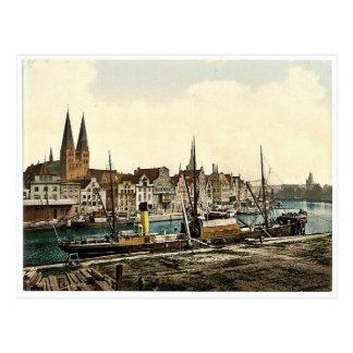 General view, Lubeck, Germany classic Photochrom Postcard