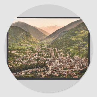 General view, Luchon, Pyrenees, France vintage Pho Sticker