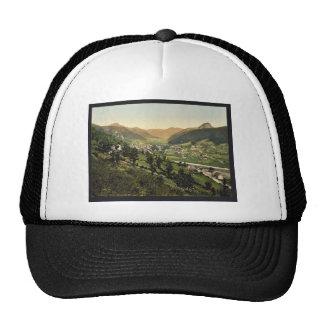 General view, Monte Dore, France vintage Photochro Trucker Hat