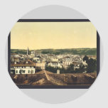General view, Montpelier, France vintage Photochro Round Sticker