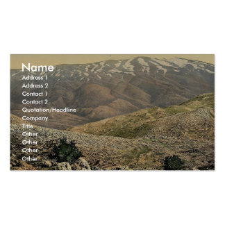 General view, Mount Hermon, Holy Land (i.e., Leban Business Card Template
