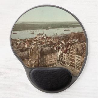 General View of Antwerp I, Belgium Gel Mouse Pad