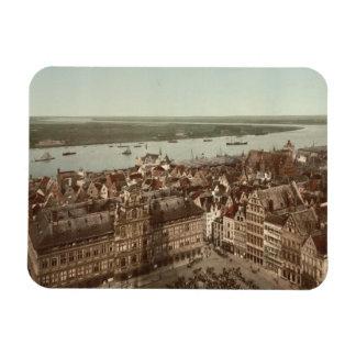 General View of Antwerp I, Belgium Rectangular Photo Magnet