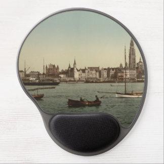 General View of Antwerp II, Belgium Gel Mousepad