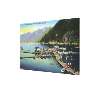 General View of Horseshoe Bay and Crowded Harbor Canvas Print