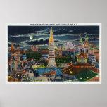 General View of Luna Park at Night Print