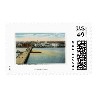 General View of MIT and Harvard Bridge, Postage