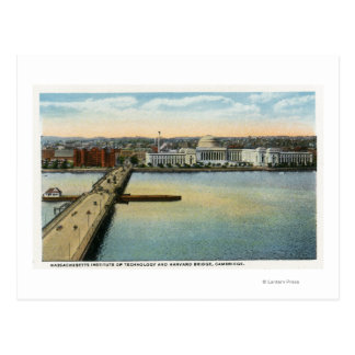 General View of MIT and Harvard Bridge, Postcard