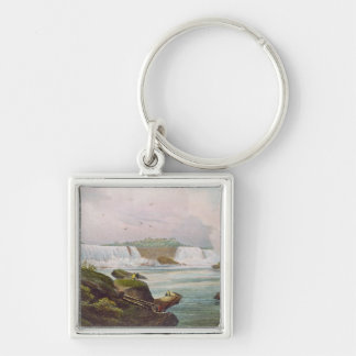General View of Niagara Falls from Canadian Side Silver-Colored Square Keychain