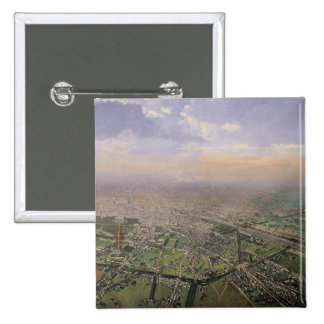 General view of Paris from a hot-air balloon Pinback Button