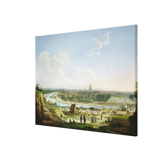General View of Paris from the Chaillot Hill Canvas Print