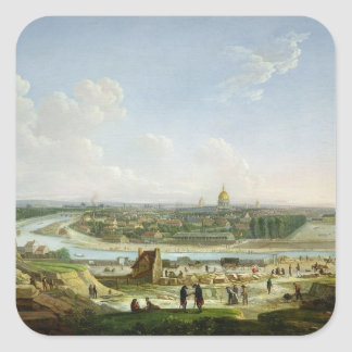 General View of Paris from the Chaillot Hill Square Sticker