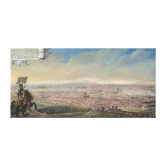 General View of Paris from the Faubourg Canvas Print