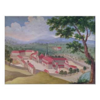 General view of the Abbey from the east Poster