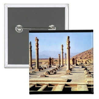 General view of the Apadana  founded c.518 BC 2 Inch Square Button