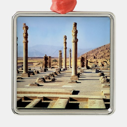 General view of the Apadana  founded c.518 BC Metal Ornament