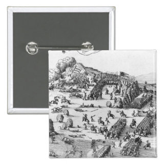 General view of the battle of Muhlberg 2 Inch Square Button
