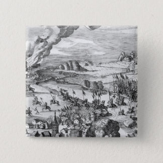 General view of the battle of Muhlberg Button