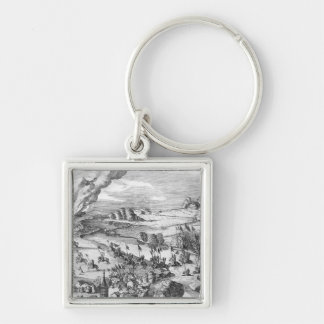 General view of the battle of Muhlberg Keychain