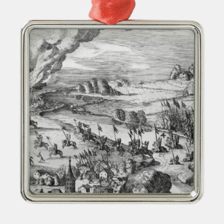 General view of the battle of Muhlberg Metal Ornament