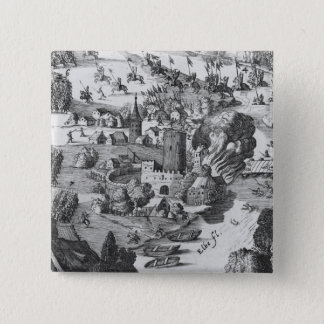 General view of the battle of Muhlberg Pinback Button