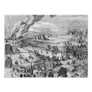 General view of the battle of Muhlberg Print
