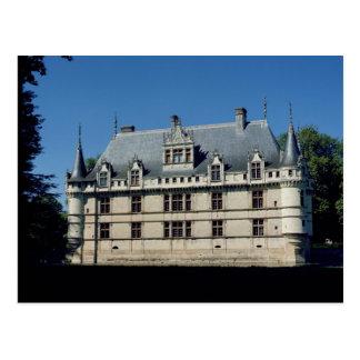 General view of the Chateau d'Azay-le-Rideau Postcard