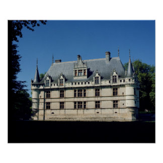 General view of the Chateau d'Azay-le-Rideau Poster
