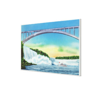 General View of the Falls and the Rainbow Canvas Print