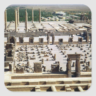 General view of the palace, Achaemenian Period Square Sticker