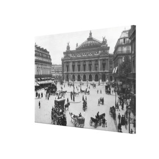 General view of the Paris Opera House Canvas Print