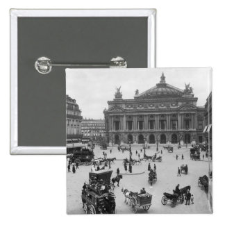 General view of the Paris Opera House Pinback Button