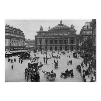 General view of the Paris Opera House Poster