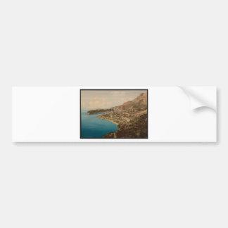 General view of the principality, Monaco, Riviera Bumper Sticker