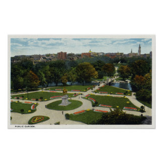 General View of the Public Garden Poster