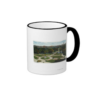 General View of the Public Garden Ringer Coffee Mug