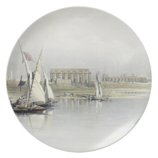 General View of the Ruins of Luxor from the Nile, Plate