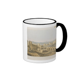 General View of the Ruins of the Great Temple of C Ringer Coffee Mug