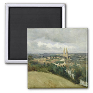 General View of the Town of Saint-Lo, c.1833 2 Inch Square Magnet