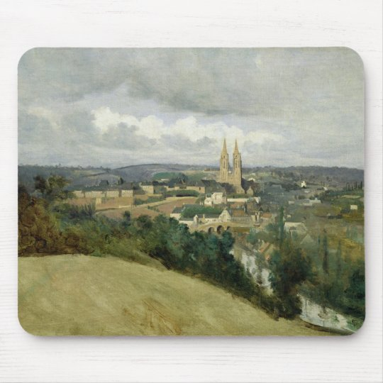 General View of the Town of Saint-Lo, c.1833 Mouse Pad