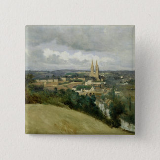 General View of the Town of Saint-Lo, c.1833 Pinback Button