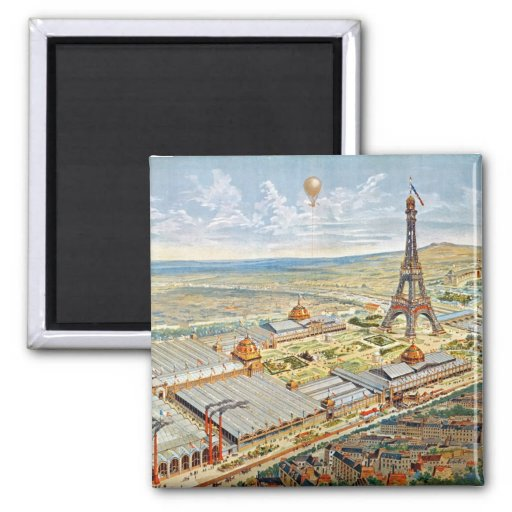 General View of the Universal Exhibition 2 Inch Square Magnet