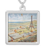General View of the Universal Exhibition Square Pendant Necklace