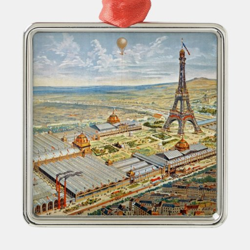 General View of the Universal Exhibition Square Metal Christmas Ornament