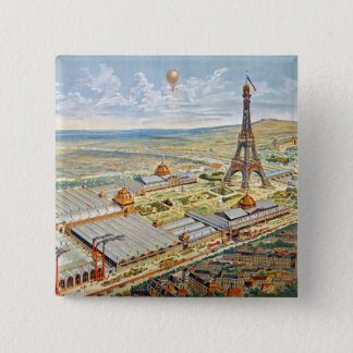 General View of the Universal Exhibition Pinback Button