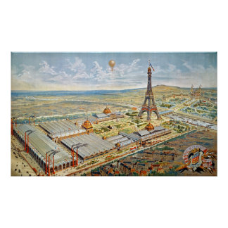 General View of the Universal Exhibition Poster