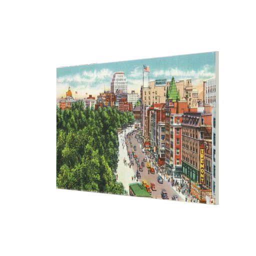 General View of Tremont Street Canvas Print