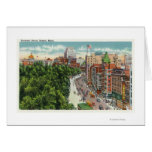 General View of Tremont Street Greeting Card
