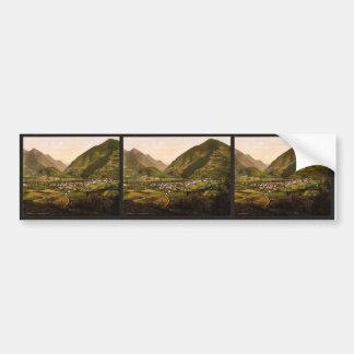 General view, Pierrefitte, Pyrenees, France vintag Bumper Sticker